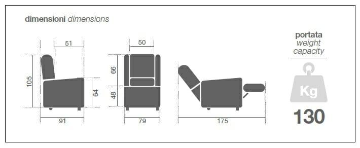 Poltrona Relax E K20-2 Motori