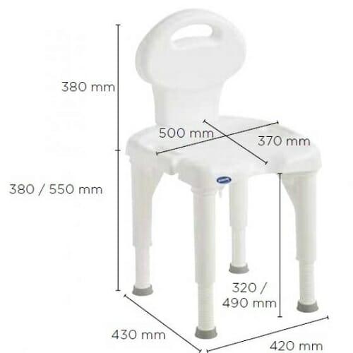 Sgabello per doccia regolabile I FIT 9781E INVACARE