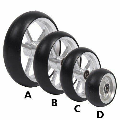 06033168 Ruota 3 Cerchio In Alluminio Gomma Nera