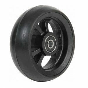 06033206 Ruota 6' in fibra cerchio nero gomma nera