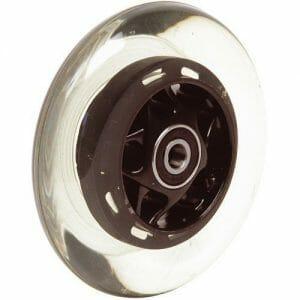 06069008 Ruota 3' senza LED gomma nera