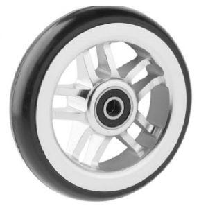 06069019 Ruota 4′ cerchio in alluminio gomma nera