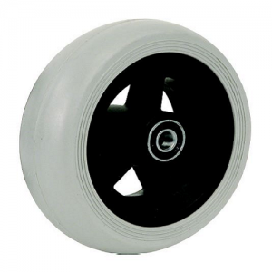 06033019 Ruota 5,5 in gomma grigia cerchio in plastica