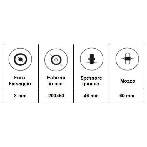 06033026 Ruota 8′ cerchio scomponibile flexel