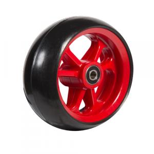 06033223 Ruota 4' gomma nera cerchio rosso