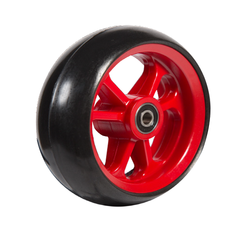06033223 Ruota 4′ gomma nera cerchio rosso_x