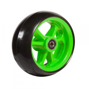 06033237 Ruota 4' gomma nera cerchio verde