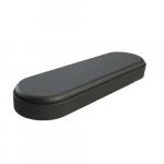 Bracciolo in poliuretano nero base in legno_Z