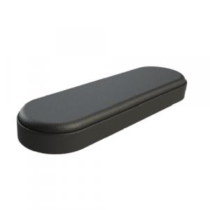 Bracciolo in poliuretano nero base in legno