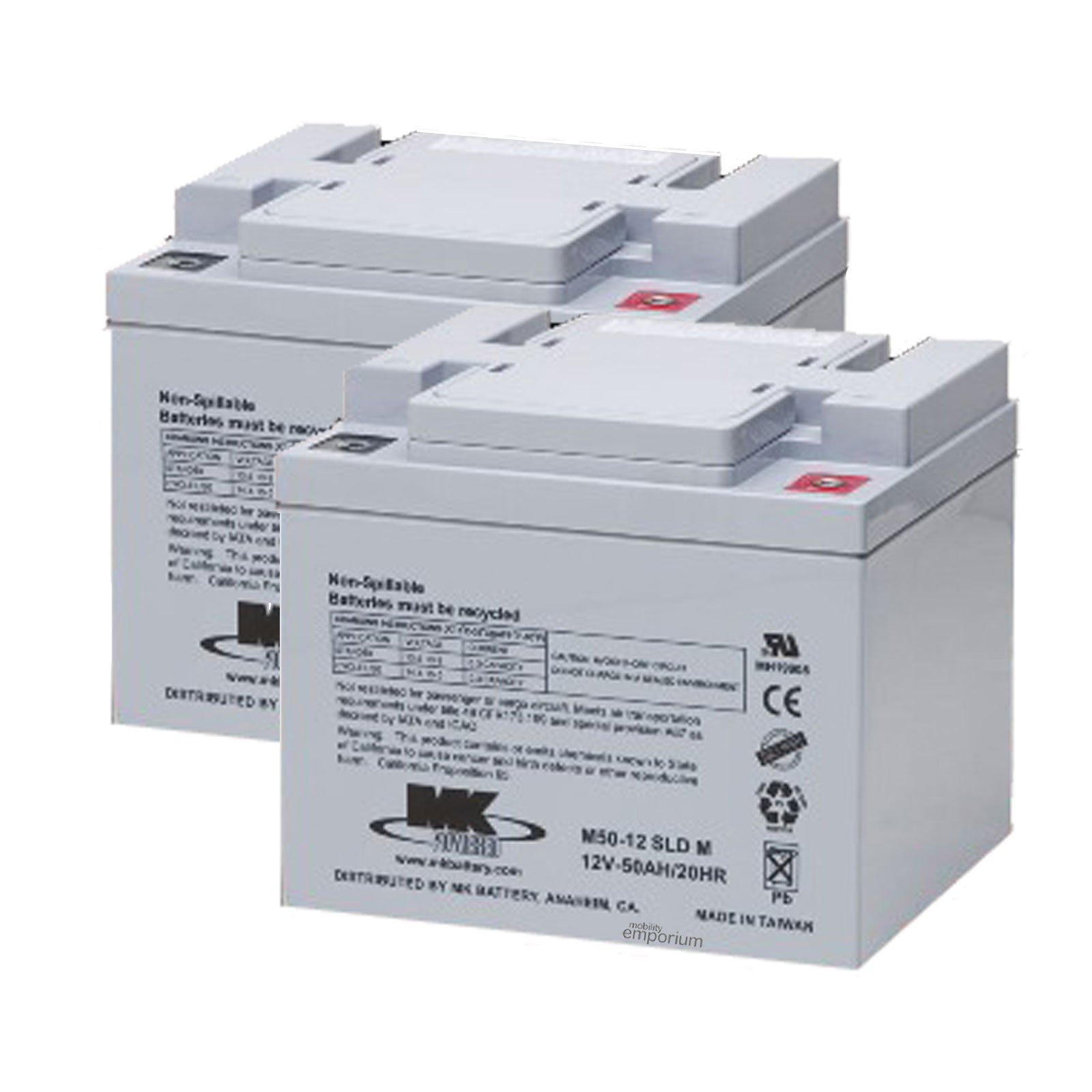 Batteria 03017005 Batteria Mk 12 V 50 Ah
