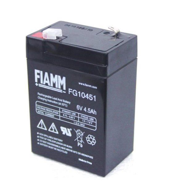 03024019 Batteria 6 V 4,5 Ah 1