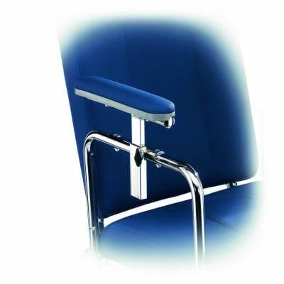 980051 Braccioli regolabili in altezza al paio Invacare E100-E200-E400-E500-10-154 1