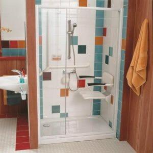 Seggiolino per doccia a parete Futura R8804-60