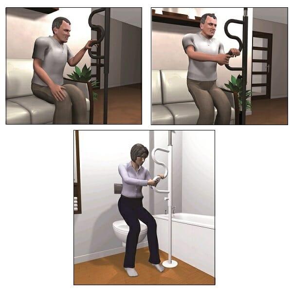 Ausilio per sollevamento e seduta ALLM POLE Allmobility