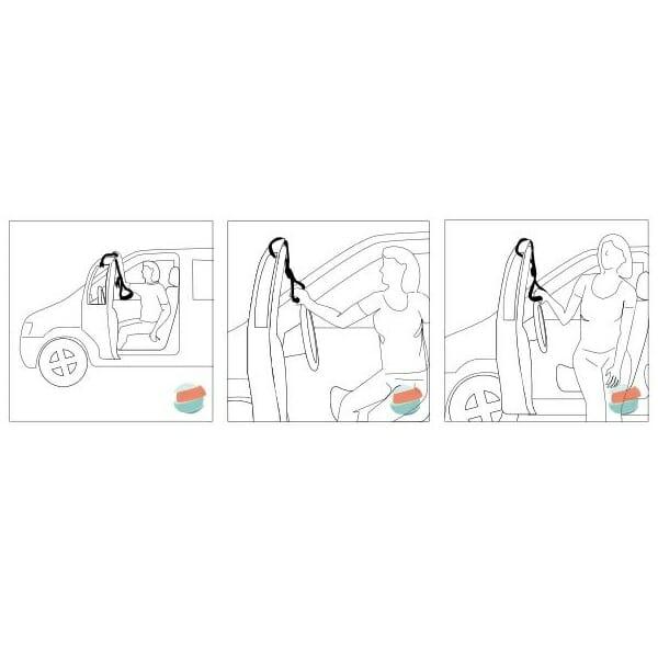Cinghia per accesso ed uscita dell'automobile Allmobility