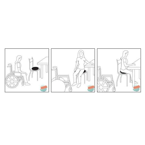 Cuscino girevole morbido Allmobility TR CUCSGIR