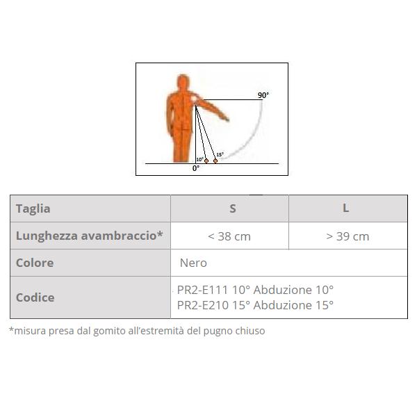 Supporto per spalla con abduzione fissa TOPIIS 10° – 15°