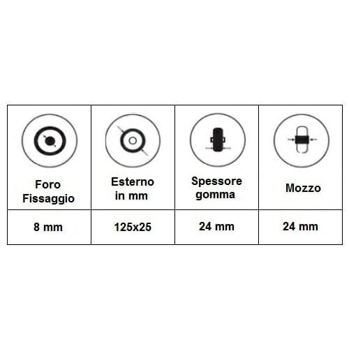 06033273 Ruota 5' senza LED trasparente