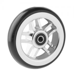 06069026 Ruota 5' in alluminio cerchio grigio gomma nera