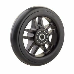 06069027 Ruota 4′ cerchio nero in alluminio gomma nera