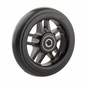 06069028 Ruota 5′ cerchio nero in alluminio gomma nera