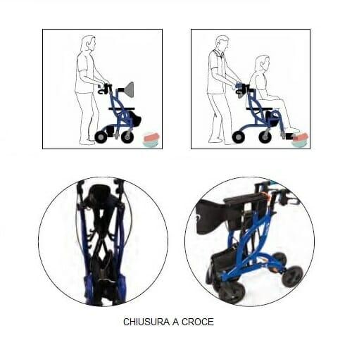 Deambulatore carrozzina Fusion 2 in 1 Allmobility