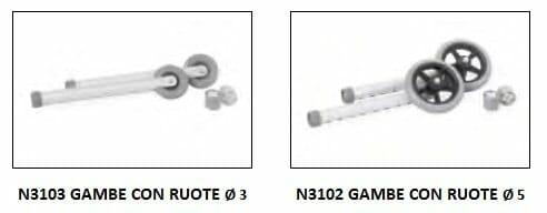 Deambulatore pieghevole N02 KSP_accessori
