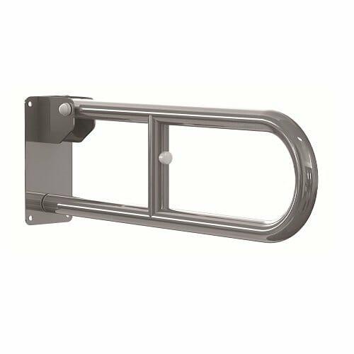 Maniglione ribaltabile in acciaio Allmobility