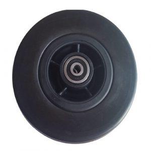 06001003 Ruota Q6 nera 6 poliuretano