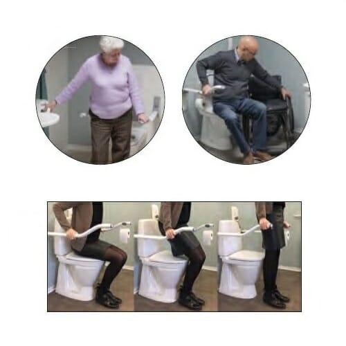 Bracciolo ribaltabile per wc Ergo Onda