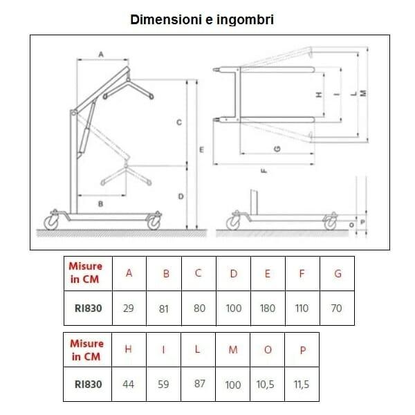 Verticalizzatore RI830 Moretti