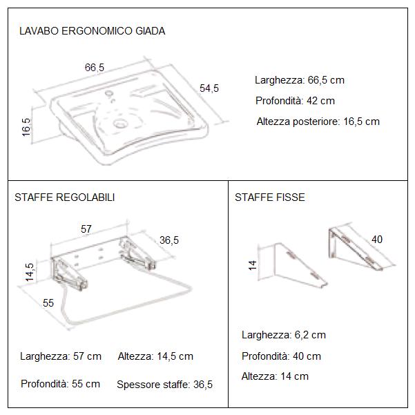 Lavabo ergonimico GIADA Allmobility BA LAVABERGO