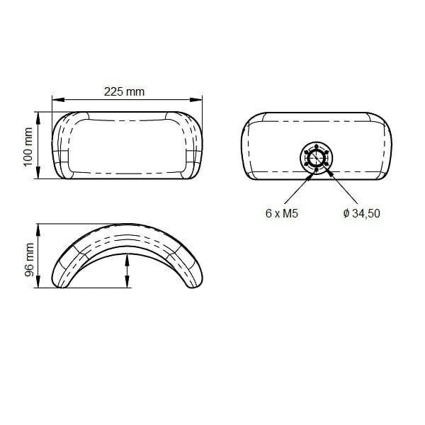 Poggiatesta per carrozzina RIPC7 Allmobility
