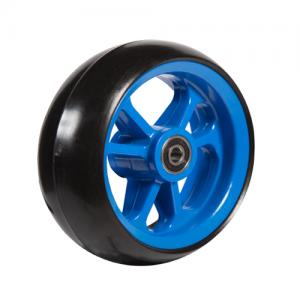 06033290 Ruota 6' gomma nera cerchio blu