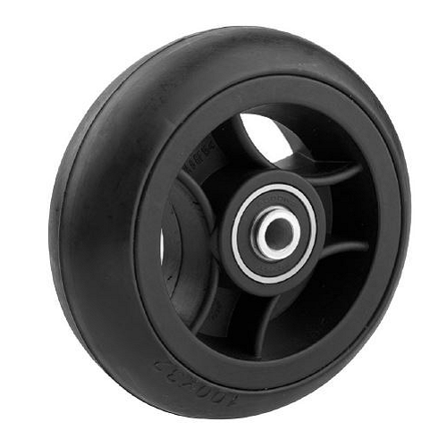 06155018 Ruota 4′ gomma piena nera profilo tondo